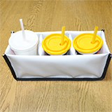 PK-HOLDER3: Drink Bags for Side Loading Bags, Avoid Spillage, to Fit 3 Cups, 30cm * 10cm * 12cm