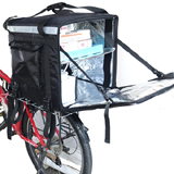 PK-92Z: Insulated food carrying bags for bike, big pizza delivery boxes, keep hot, 17